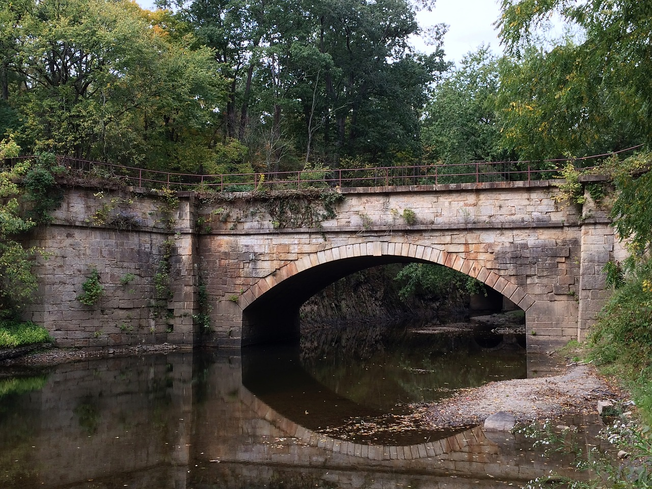 bridge along the c&o canal path