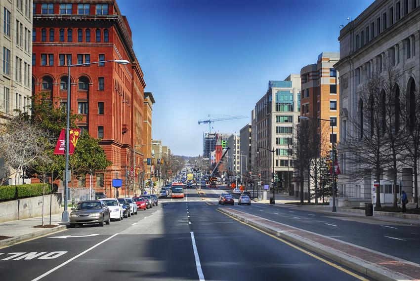 a busy dc  street