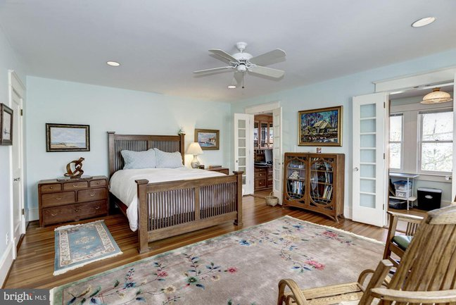 beautiful master suite in a chevy chase luxury home