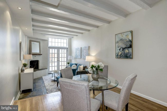 living room of a foggy bottom townhouse