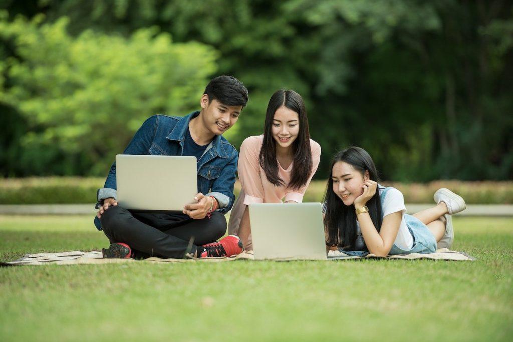 Bethesda students studying
